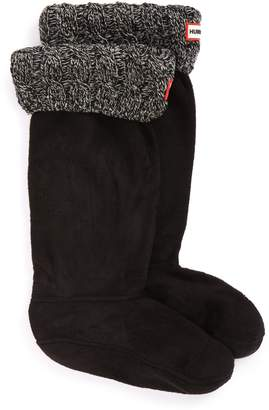 Hunter Tall Cable Knit Cuff Welly Boot Socks