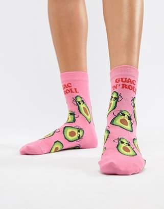 Asos Design Avocado Guac N Roll Sock