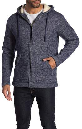 Weatherproof Melange French Terry Faux Shearling Hoodie