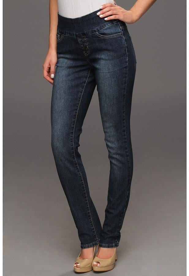 Jag Jeans Malia Pull-On Slim Leg in Blue Dive (Blue Dive) - Apparel