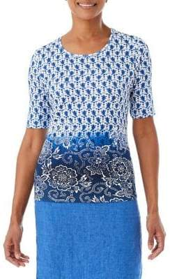 Olsen Island Breeze Border Batik Tee