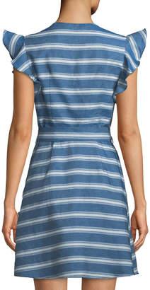 Style Stalker Stylestalker Brinley Ruffle Striped Wrap Dress