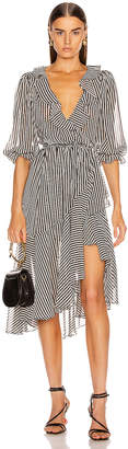 Icons Objects Of Devotion Objects of Devotion The Cha Cha Dress in Black & White Stripe | FWRD