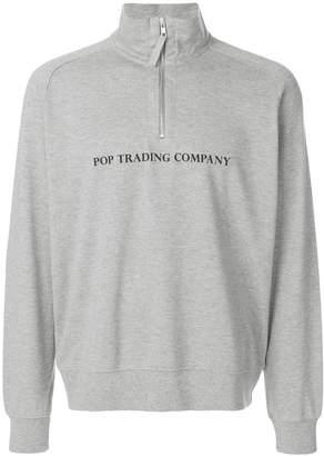 Pop Trading International logo print high neck sweatshirt