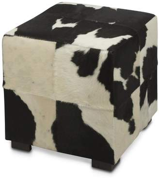 Home & Giftware Cube Cowhide Ottoman