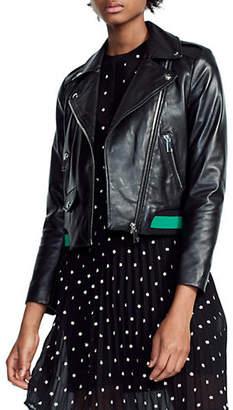 Maje Bordi Leather Jacket