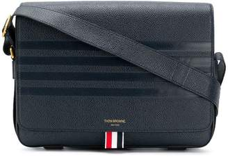 Thom Browne 4-Bar Emboss Reporter Bag