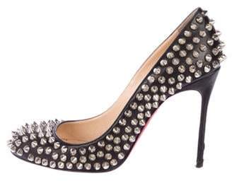 Christian Louboutin Fifi Spikes 100 Leather Pumps Black Fifi Spikes 100 Leather Pumps