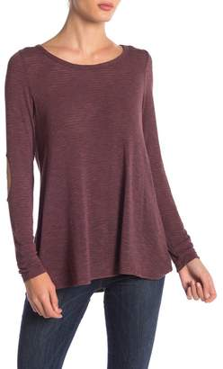 Pink Owl Elbow Patch Tunic Top