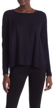 Vince Cashmere Shirred Back Pullover