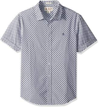 Original Penguin Men's Short Sleeve Stamp Floral Shirt