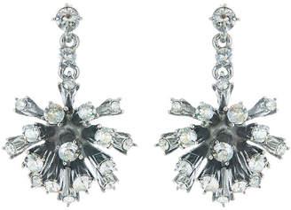 Oscar de la Renta Crystal Dandelion Drop Earrings