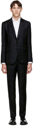 Paul Smith Navy Wool Wide Check Suit