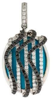 18K Turquoise & Diamond Pendant