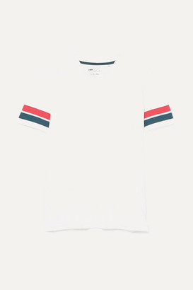 LNDR - Striped Organic Cotton-jersey T-shirt - White