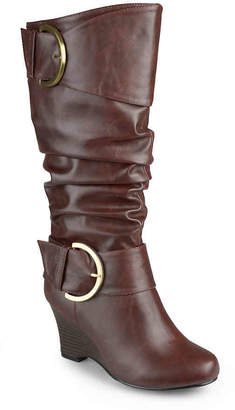 Journee Collection Meme Extra Wide Calf Wedge Boot - Women's