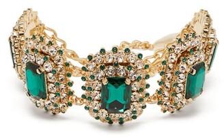 Dolce & Gabbana Crystal Choker - Womens - Green