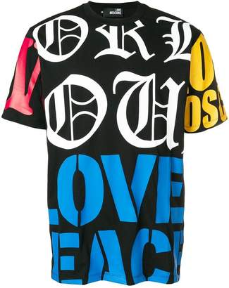 Love Moschino logo colour-block T-shirt