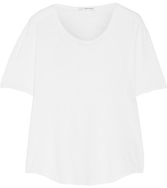 James Perse - Slub Linen And Cotton-blend T-shirt - White $115 thestylecure.com