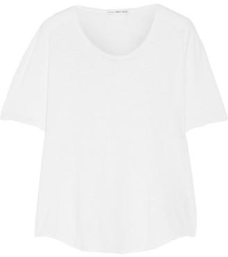James Perse - Slub Linen And Cotton-blend T-shirt - White $115 thestylecure.com