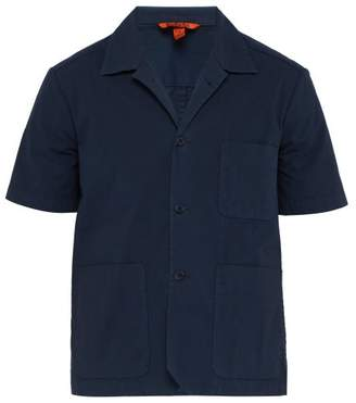 Barena Venezia - Short Sleeved Stretch Cotton Shirt - Mens - Navy