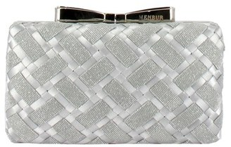 Menbur Woven Box Clutch With Bow Clasp - Metallic $95 thestylecure.com