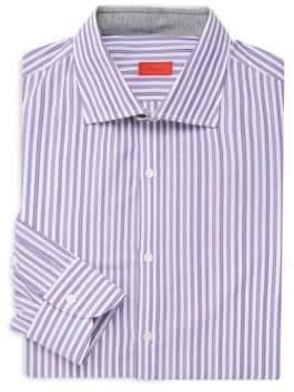 Isaia Classic Striped Dress Shirt