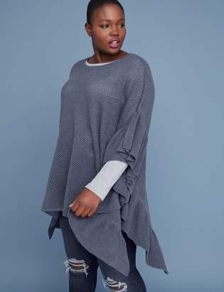 Lane Bryant Ruffle Poncho Sweater