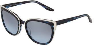 Barton Perreira Winette Cat-Eye Sunglasses, Midnight Silver