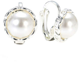 Gloria Vanderbilt Simulated Pearl and Silver-Tone Earrings