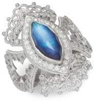 Armenta New World Multi-Stone and Sterling Silver Ring, 0.35 TCW