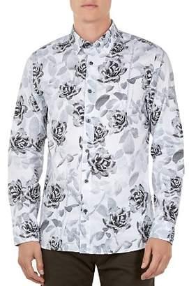 Ted Baker Maize Rose & Dot Leaf Print Button-Down Shirt