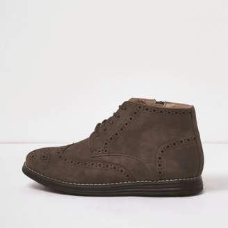 River Island Boys brown brogue boots