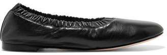 Stuart Weitzman Gina Leather Ballet Flats - Black