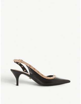 Dune Candra studded slingback kitten heels