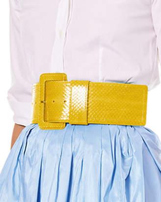 Carolina Herrera Wide Patent Water Snake Belt