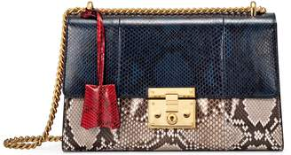 Gucci Padlock medium python shoulder bag