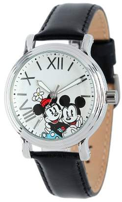 Disney Women's Shinny Vintage Articulating Watch with Alloy Case - Black