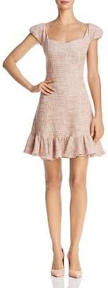 Rebecca Taylor Flounced Tweed Dress