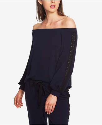 1 STATE 1.state Lace-Trim Off-The-Shoulder Top