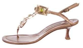 Manolo Blahnik Embellished Ankle Strap Sandals