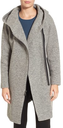Women's Marc New York By Andrew Marc Hooded Wool Blend Coat $330 thestylecure.com