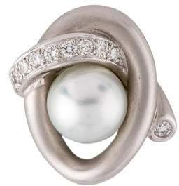 Marlene Stowe 18K Pearl & Diamond Pendant