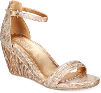 Kenneth Cole Reaction Women's Cake Icing Wedge Sandals Women's Shoes $79 thestylecure.com