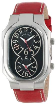 """Philip Stein Teslar Unisex 2-BK-CSTR""""Signature"""" Stainless Steel Watch with Leather Band"""