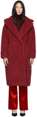 Max Mara Red Teddy Coat