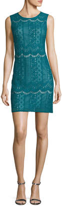 Adrianna Papell Sleeveless Lace Shift Dress