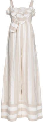 Paper London Beach Boy stripe cotton linen-blend jumpsuit