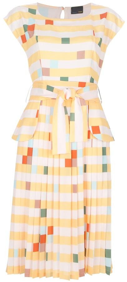 Fendi checked multi-colour dress