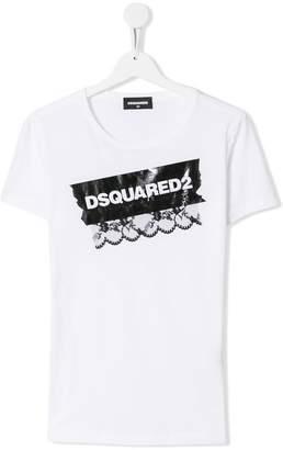 DSQUARED2 TEEN logo print T-shirt